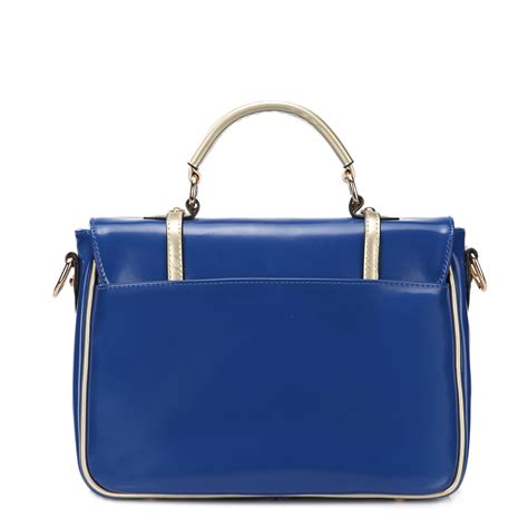 korean style color dual use bag blue