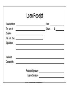 Loan Receipt Template 8 loan receipt templates free sles exles formats