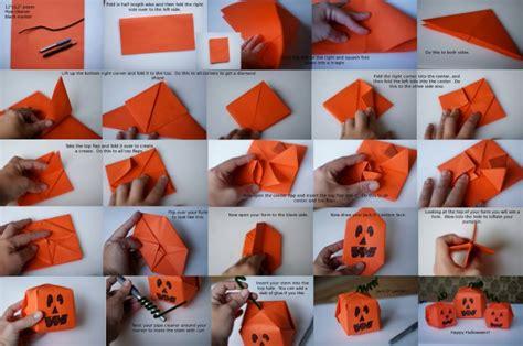 how to make an origami pumpkin craft my bohemian summer