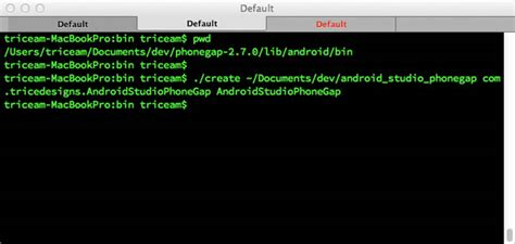 cmd for android mobile phonegap android studio technology mashup
