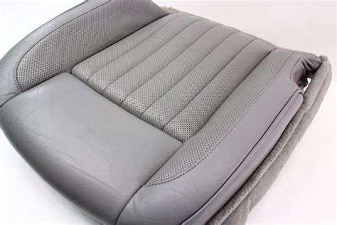 genuine leather chair pads rh front grey leather seat cushion cover 04 06 vw