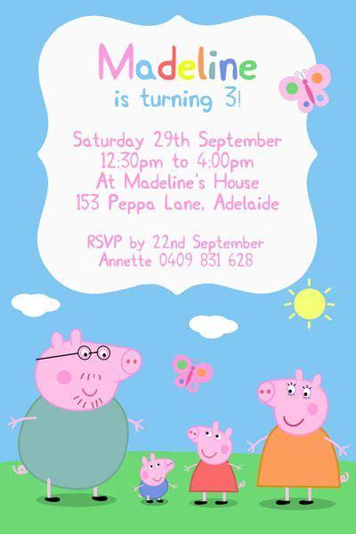Peppa Pig Birthday Card Template by Peppapiginvitationcopy Peppa Pig