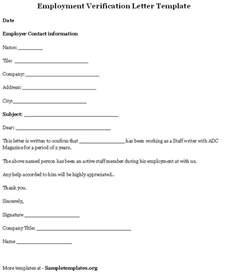 letter of certification of previous employment employment verification letter template bbq grill recipes employment certificate sample best templates pinterest