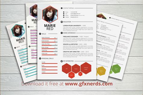 Resume Psd by Clean Professional Resume Template Psd Free Graphics