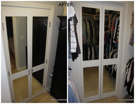 How Much Are Mirrored Closet Doors by Remodelaholic Diy Mirrored Closet Door Makeover