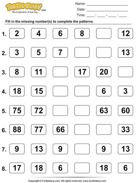 pattern in numbers finder 36 best pattern worksheets images on pinterest