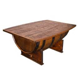 whisky tisch solid wood whiskey barrel coffee table distressed finish