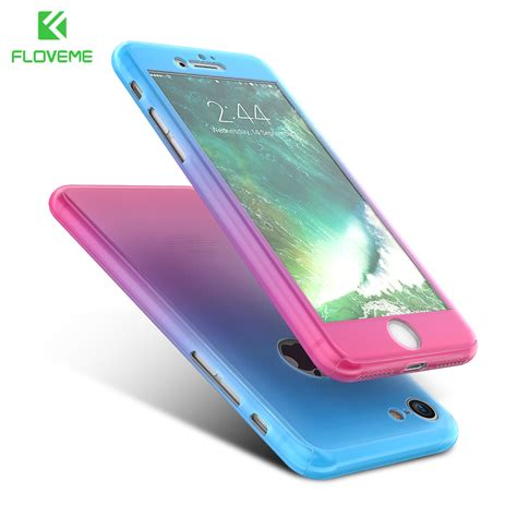 floveme for iphone 6 iphone 6s 6 plus cover 360 degree cases tempered glass for