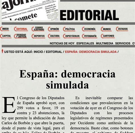 ediciones colihue cr 237 tica de la raz noticias sobre democracia el pa s duro editorial en la jornada de m 233 xico quot espa 241 a