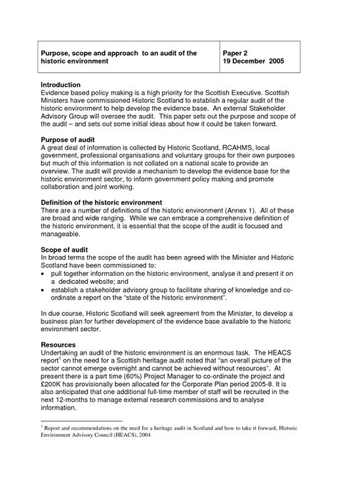 document sle scope of work template the project