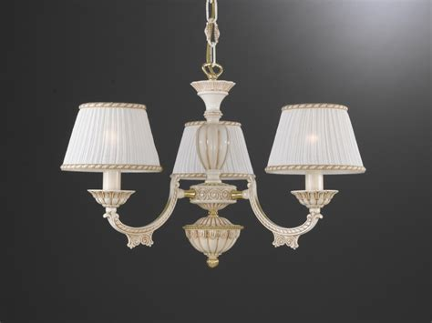 White Chandelier With Shades 5 Lights White Brass Chandelier With L Shades Reccagni Store