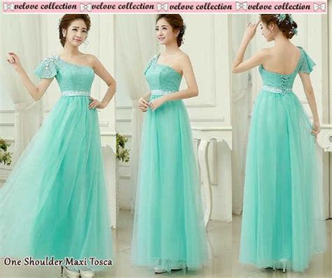 Dress Shereen Maxi Brukat Import gaun dress maxi tosca cantik terbaru murah