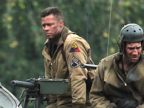 army haircut fury g i brad pitt s in the army now on set of fury today com