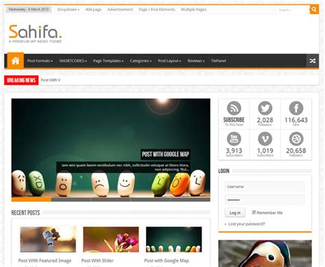 sahifa theme shortcodes 15 fresh responsive magazine wordpress themes beginwp