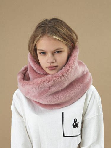 Jacket Muffler Pink 15 fw fur muffler pink winter