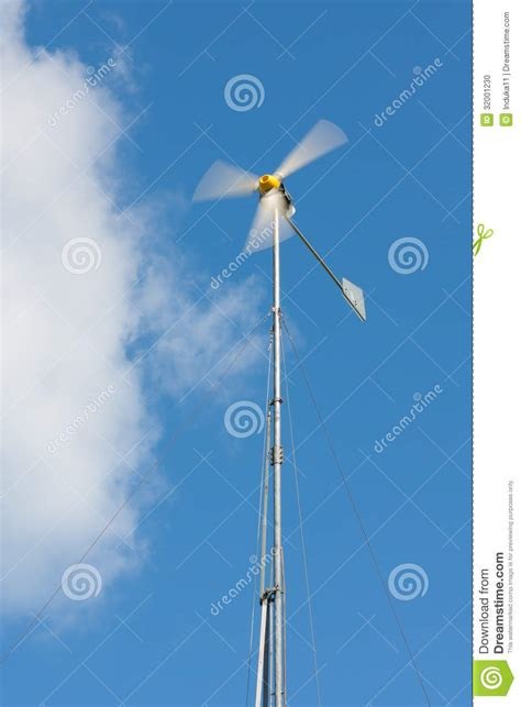 Handmade Windmill - handmade wind generator stock photo image 32001230