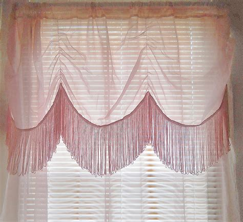 curtain fringe fringe curtain sheer pink curtain boho curtain bohemian