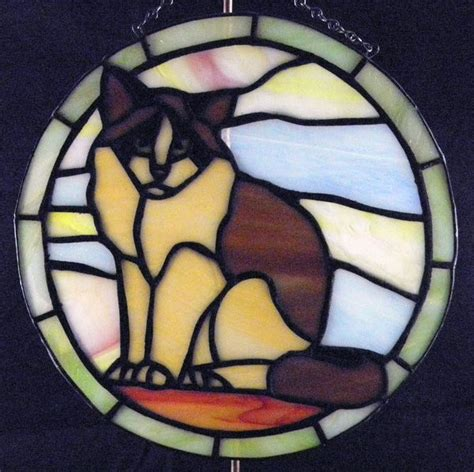 stained glass cat l 589 best stained glass cats images on pinterest stained