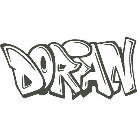 stickers stickers prenom dorian graffiti art stick