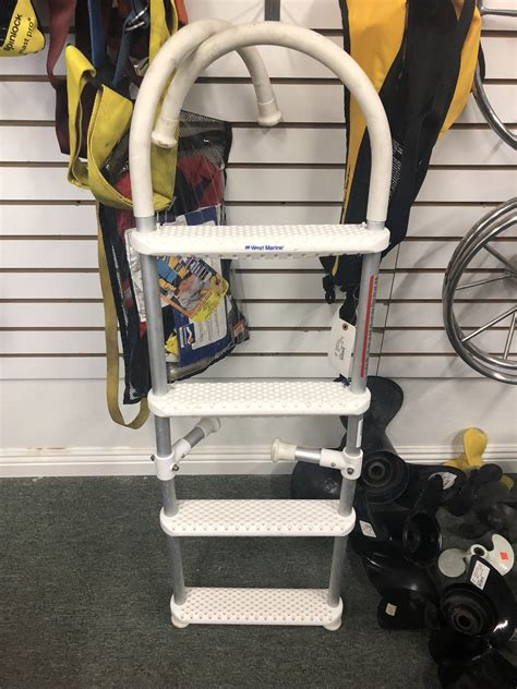 boat ladder west marine west marine portable gunwale mount boarding ladder