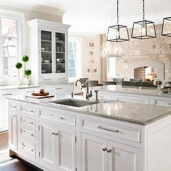 kitchen with 2 islands tw tone kitchen transitional kitchen anne hepfer designs