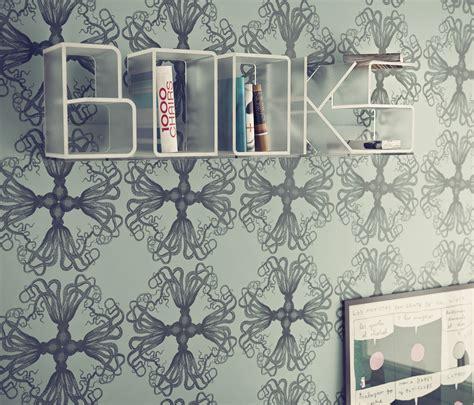 good Shelves Design For Living Room #3: Letter-Shaped-Book-Shelves.jpg