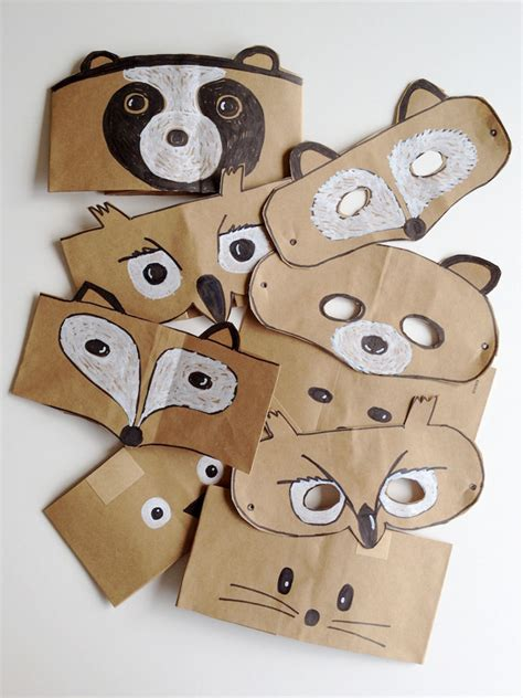 How To Make Animal Masks Out Of Paper Plates - diy leaf crowns and animal masks handmade