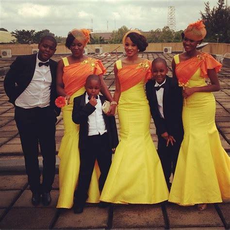 brides maid on yellow from bellanaija bn weddings trend watch bridesmaids rocking headpieces