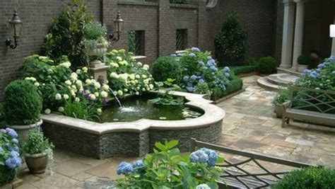 desain air mancur depan rumah 5 desain taman dengan air mancur untuk rumah minimalis