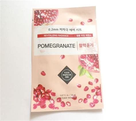 Etude 0 2 Therapy Air Mask Pomegranate etude house 0 2 therapy air mask pomegranate review