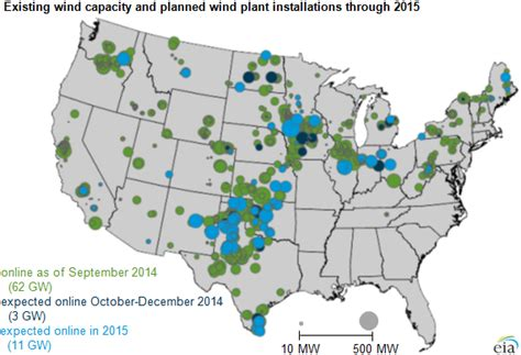 wind farms texas map wind power capacity additions expected to increase in last quarter of 2014 today in energy u