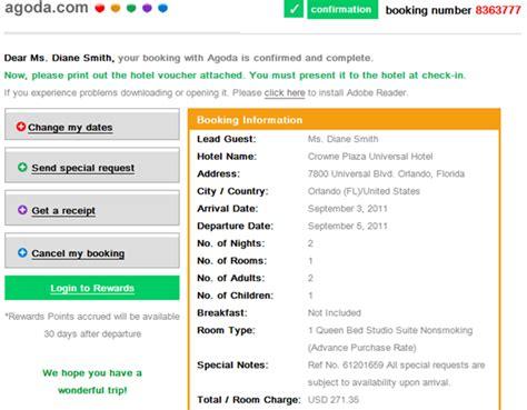 agoda receipt agoda details