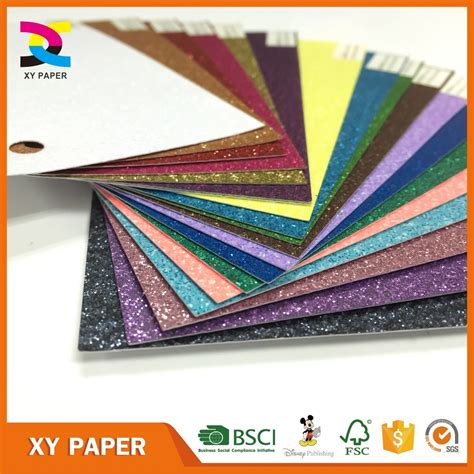 Glitter Paper For Card - solid glitter cardstock paper wholesale for scrapbooking