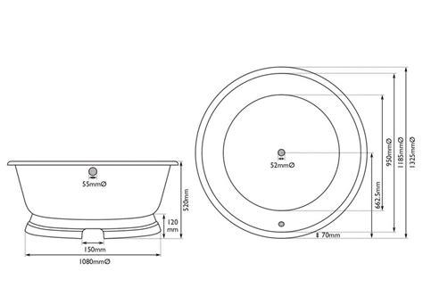 round bathtub size traditional round cast iron bath