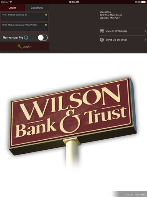 sc bank and trust wilson bank and trust mobile banking app on the app store