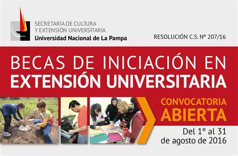 convocatoria para becas 2016 de la universidad nacional de la plata inicio universidad nacional de la pa