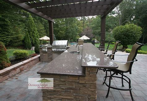 Outdoor L by Custom Built Outdoor Kitchens 2013 L Shape Kitchen With Pergola