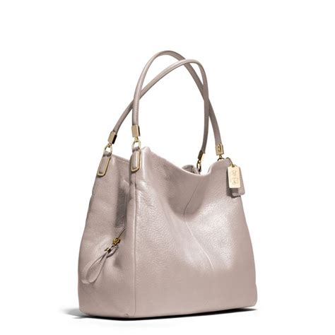 Shoulder Bag Coach lyst coach small phoebe shoulder bag in leather in gray
