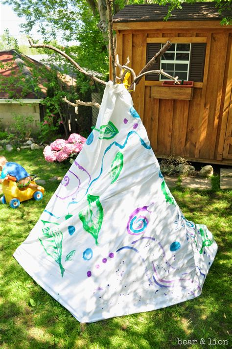 backyard teepee make your own backyard teepee