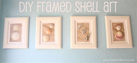 sea shell badezimmer diy framed shell