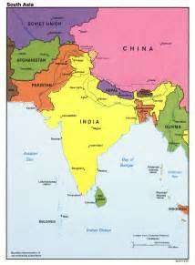 south asia countries map large detailed political map of south asia with major cities and capitals 1987 vidiani