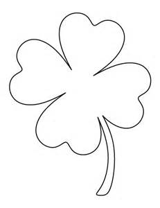 Clover Template by Printable Page Large Four Leaf Clover Pattern Use