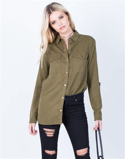 Olive Blouse Wd 1 the olive button up blouse olive button up top lightweight blouse 2020ave