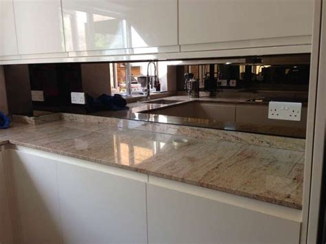kitchen backsplash mirror bronze mirror splashback glass splashbacks