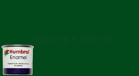 humbrol 3 enamel brunswick green gloss paint 14ml at topslots n trains