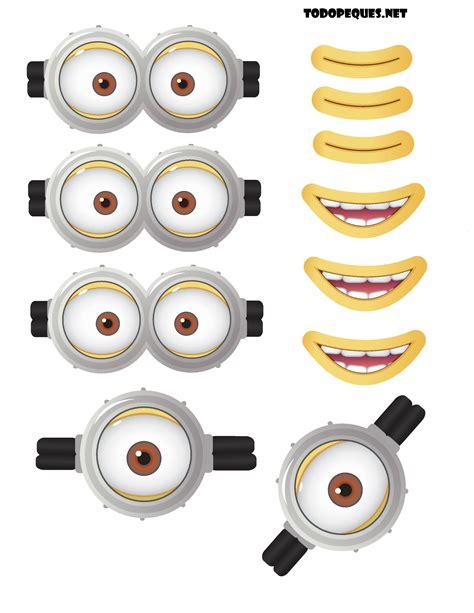 Moldes De Ojos | moldes de ojos y bocas de minions para imprimir gratis