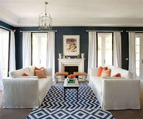 Blue Wallpaper For Living Room by Georgica Pond Navy Blue Grasscloth Wallpaper Same Rug Living Room Shopping