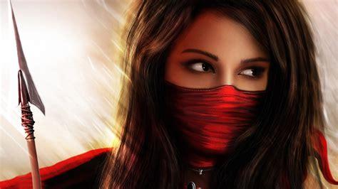 wallpaper free girl ninja girl wallpaper
