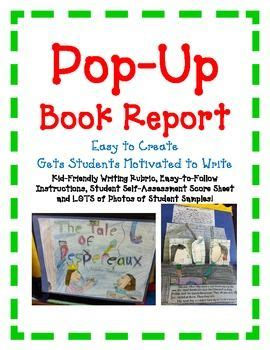 easy book report projects book report pop up book easy directions artistic