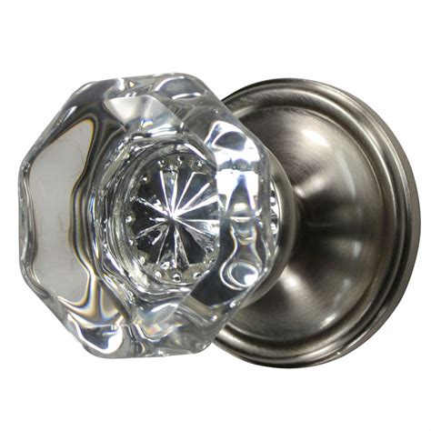 Brushed Nickel Interior Door Knobs Providence Octagon Door Knob Plate Brushed Nickel